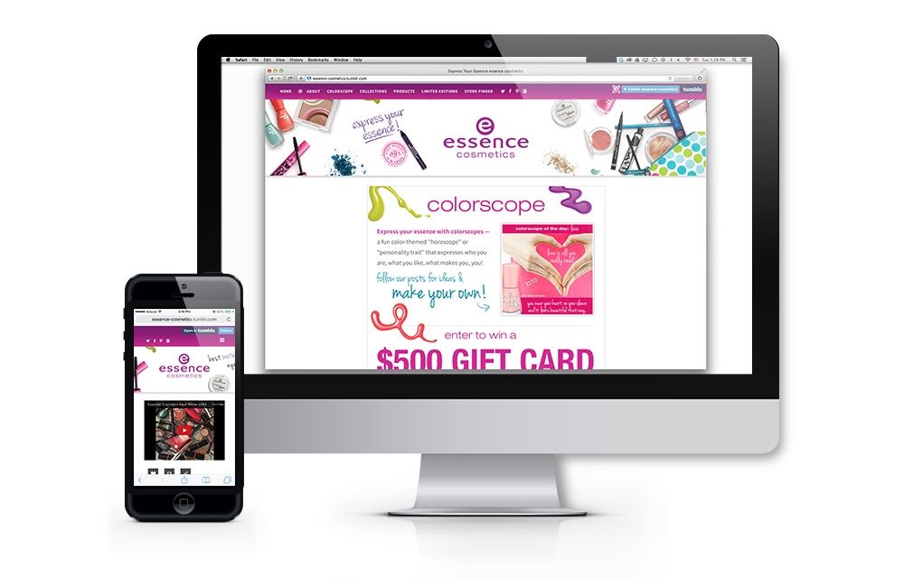 essence tumblr website and social media reach the target consumer