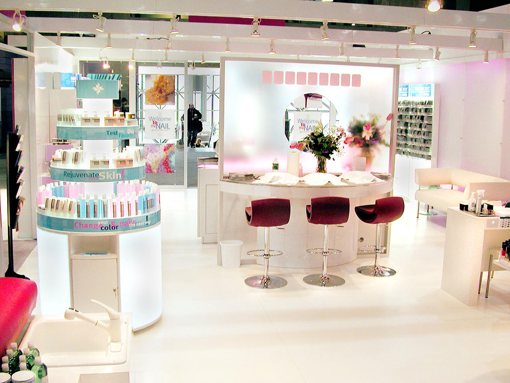 trade show booth design for CosmoProf North America showcasing prototype store concept