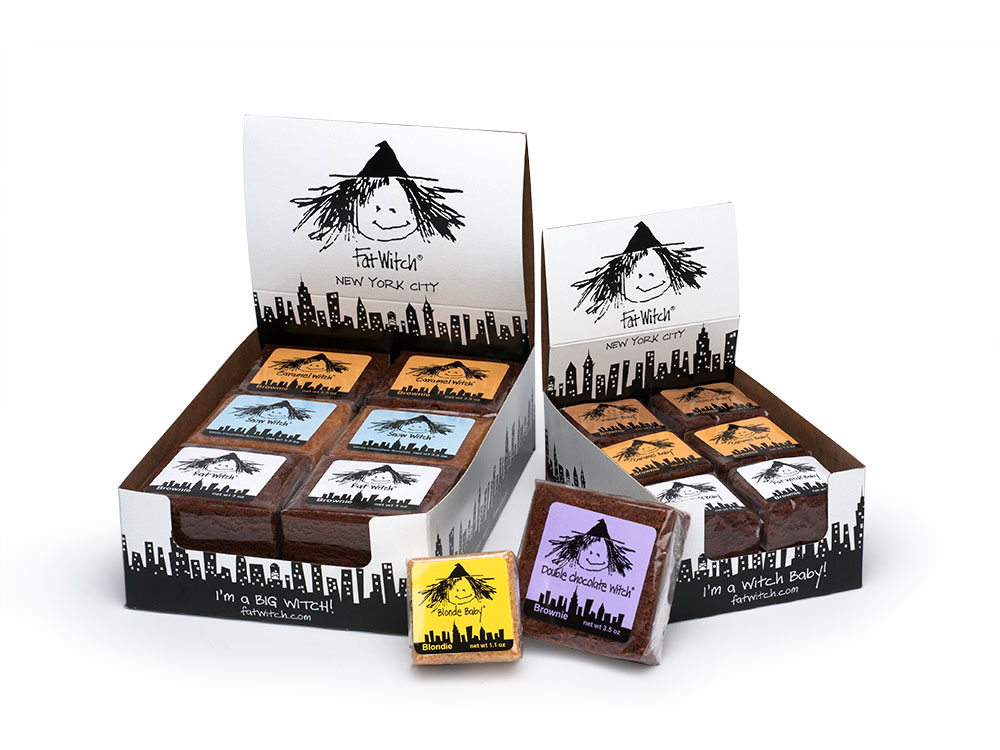 Big witch and witch baby shipper display : alternatives : branding and design agency based in nyc