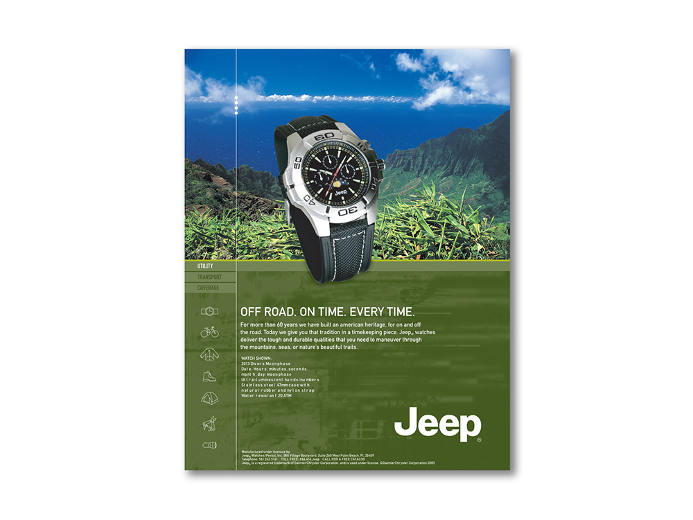 Jeep advertising format