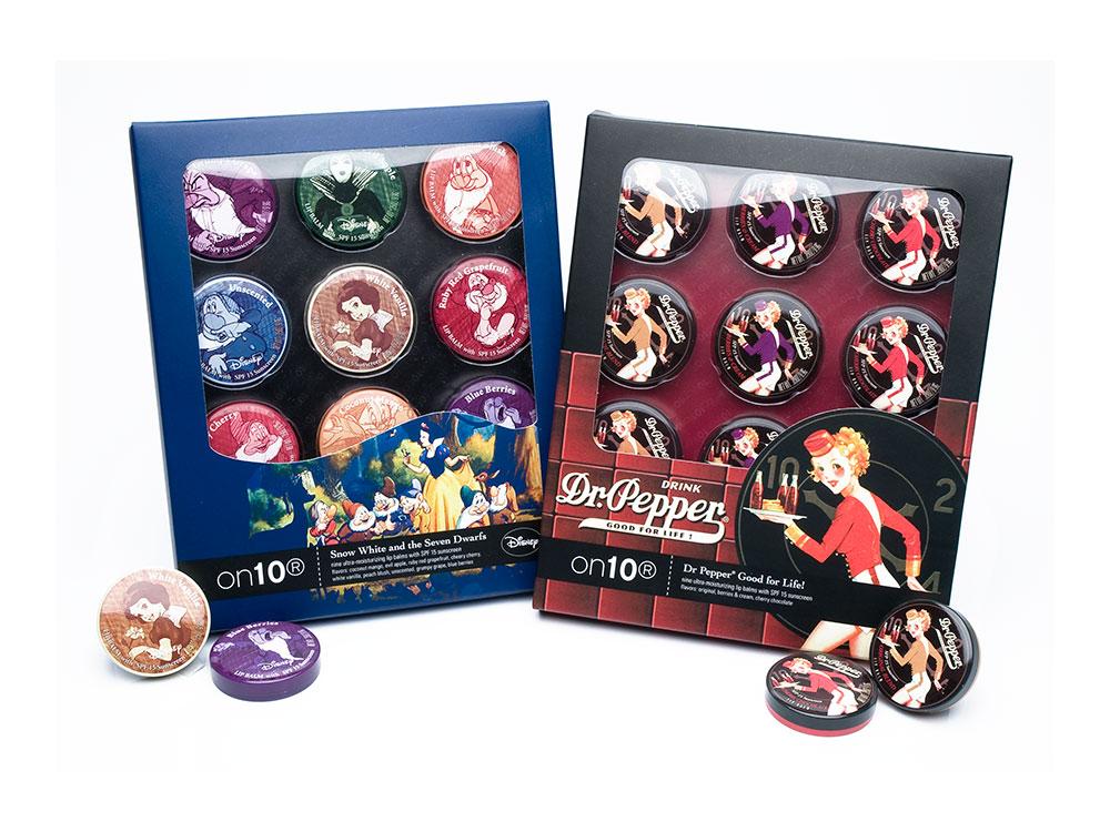 Dr Pepper & Disney lip balm tins gift set