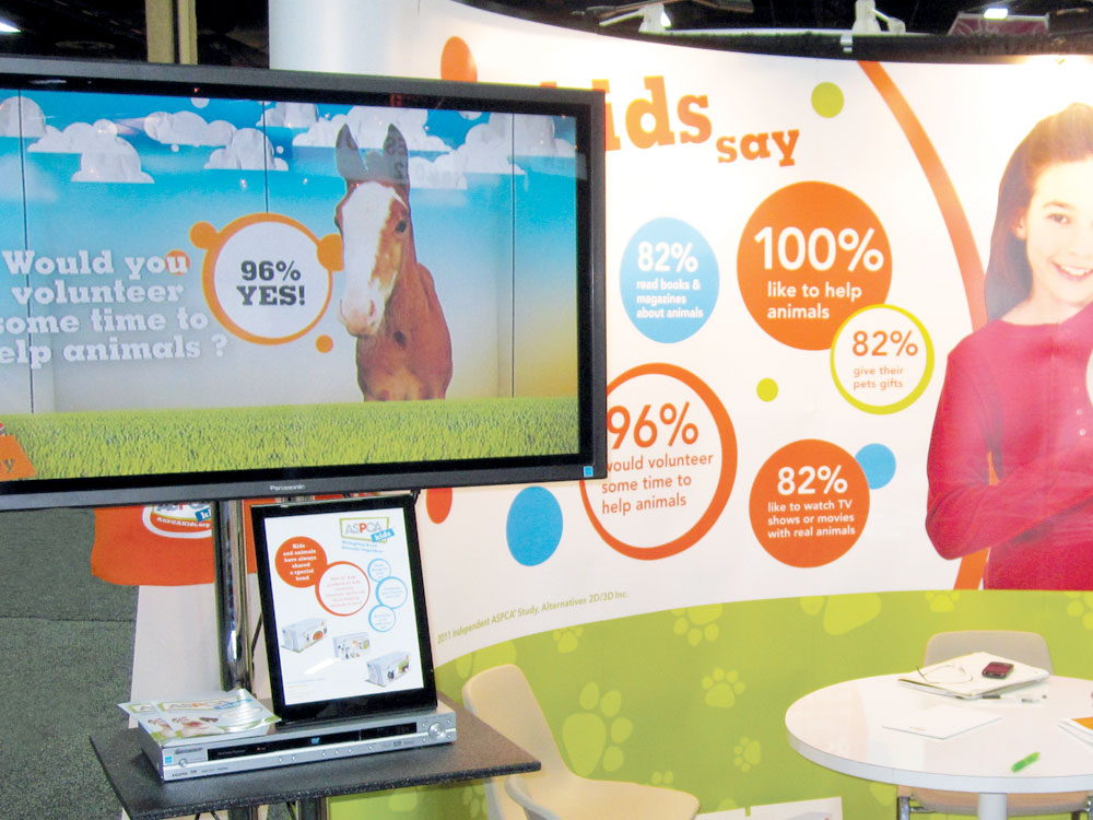 ASPCA Kids trade show booth exhibit for Licensing Expo