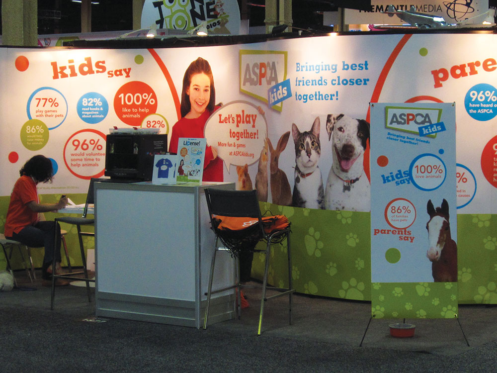 ASPCA Kids trade show booth exhibit for International Licensing Expo