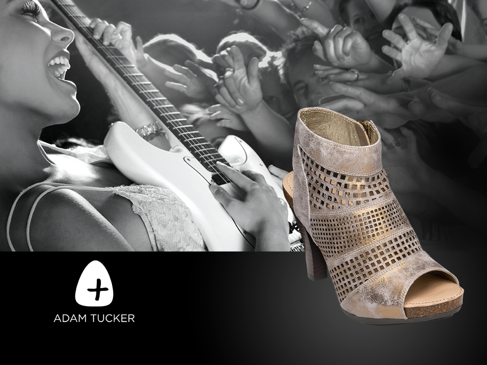 Adam Tucker Footwear : brand identity inspired by the love of music, world travel and natural materials