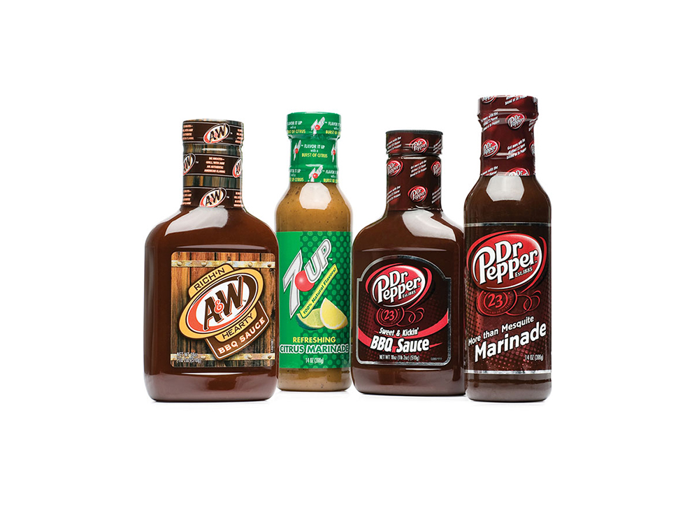 A&W, 7UP and Dr Pepper BBQ sauces and marinades inspired by fans who use the products to create their own recipes : alternatives : branding and design agency based in nyc