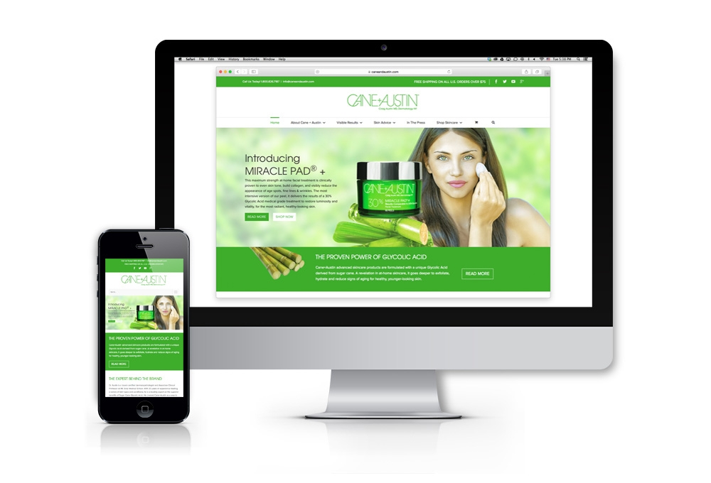 Cane+Austin responsive web design and development