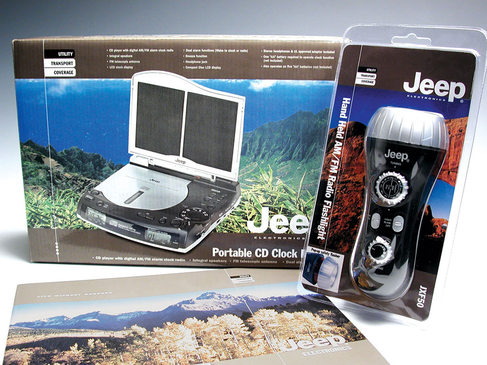 Jeep packaging for licensed products