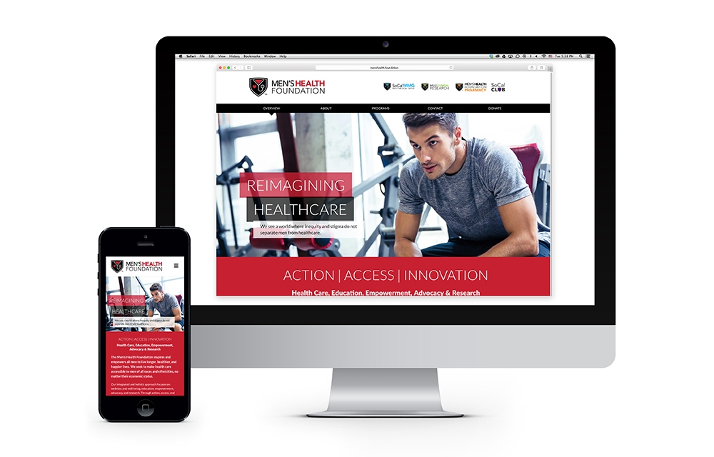 Men's Health Foundation : The mobile friendly design, research, resources and events calendar make the site a destination for those seeking the latest in men's health care.