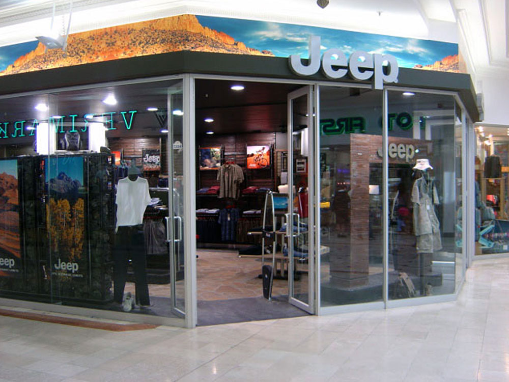 Jeep retail store exterior
