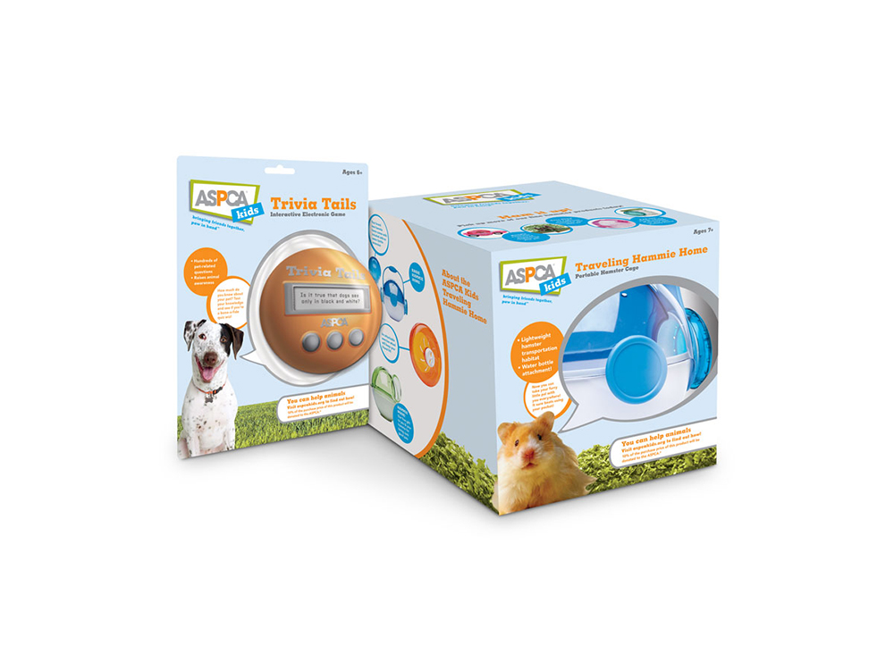package design and brand style guide for ASPCA kids licensed products