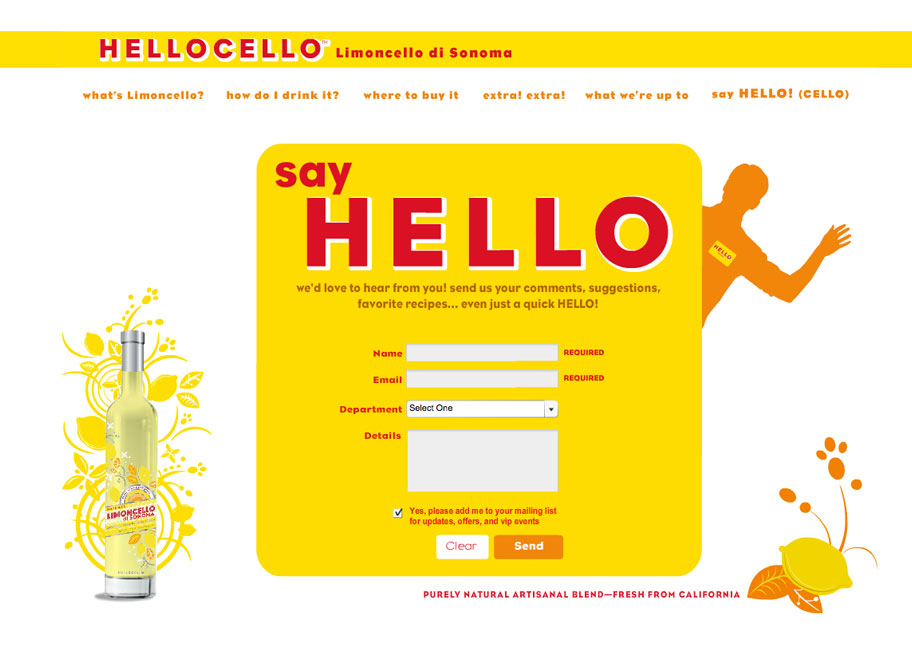 Hellocello Limoncello di Sonoma website design and development