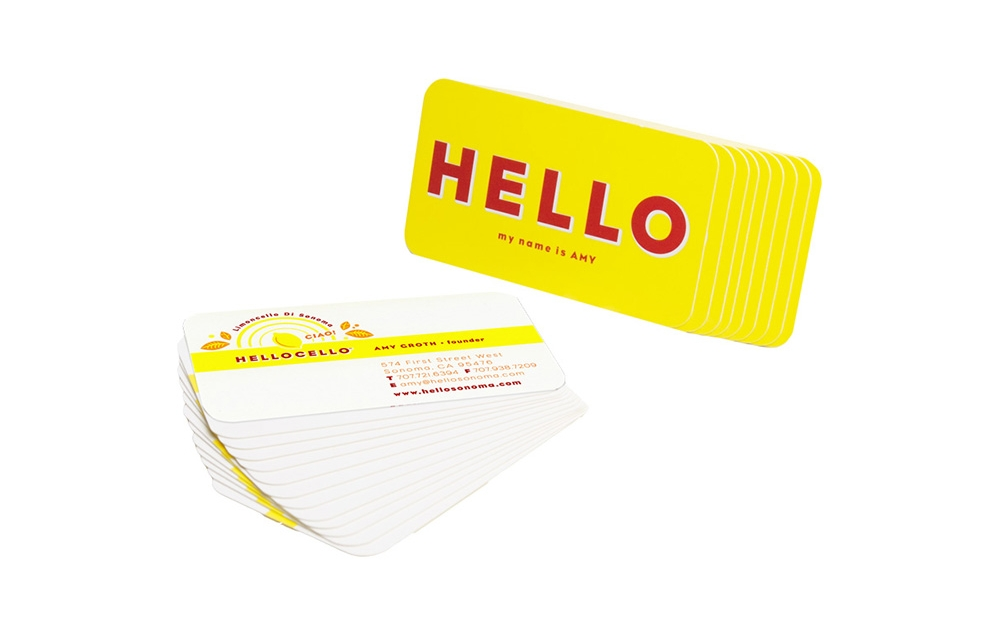 Hellocello business card