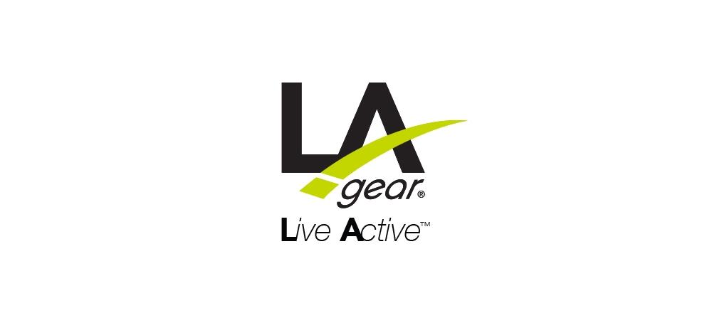 LA Gear logo and tagline