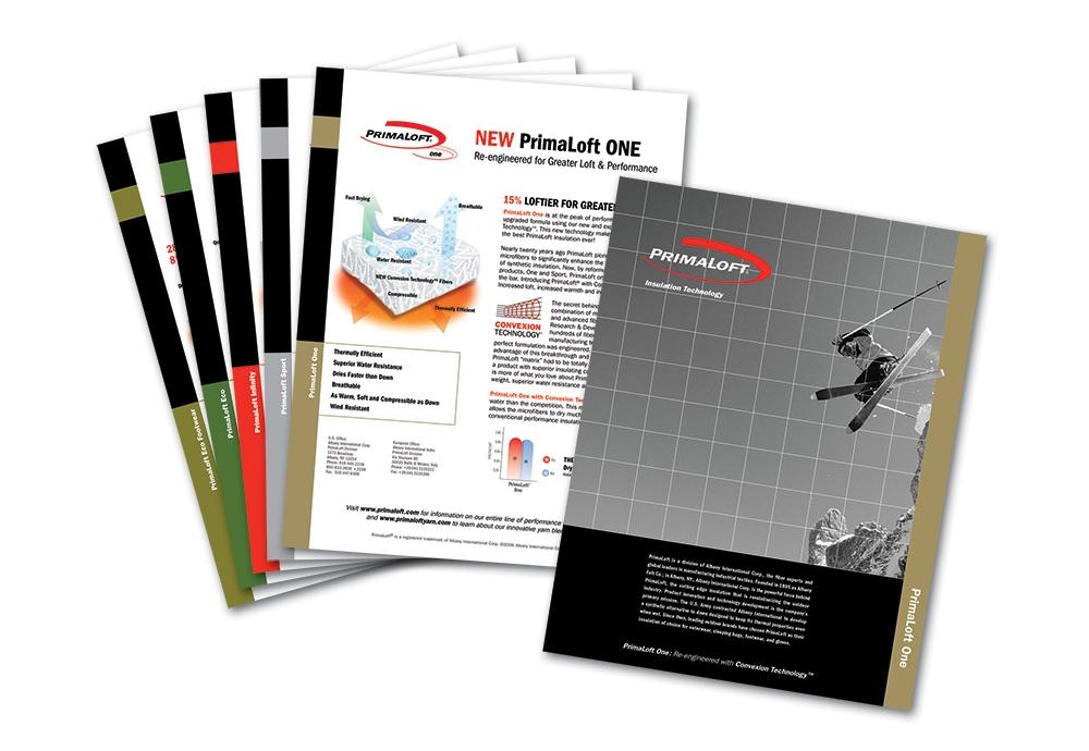 PrimaLoft sell sheets