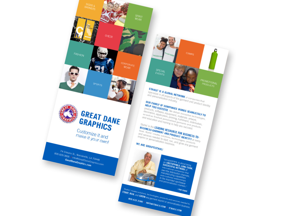 STAHLS' Great Dane Graphics brochure