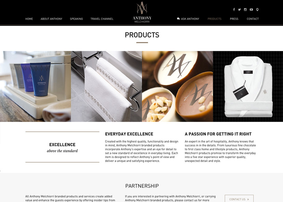 Anthony Melchiorri Products Page