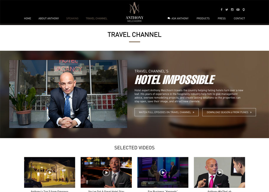 Anthony Melchiorri Travel Channel Page : alternatives : branding and design agency based in nyc