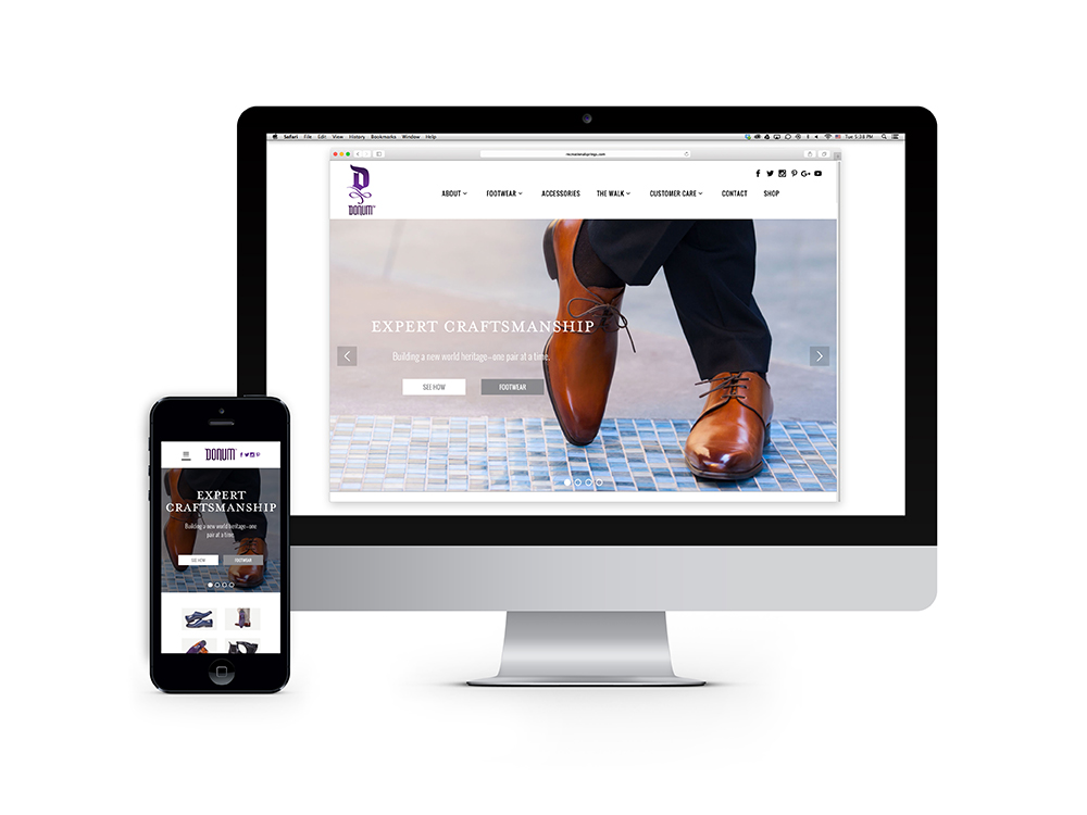 DONUM responsive web design and development creates a strong communication platform online : alternatives : branding and design agency based in nyc