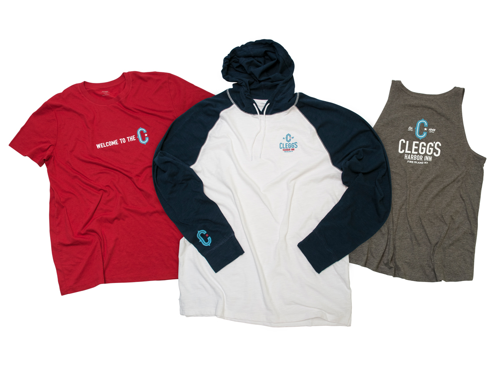 Clegg's Harbor Inn branded staff uniforms present a professional yet casual look : alternatives : branding and design agency based in nyc