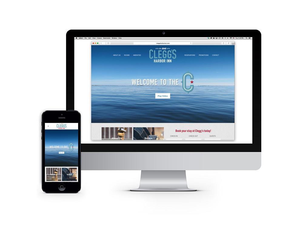 Clegg's Harbor Inn Website Design and Development : alternatives : branding and design agency based in nyc