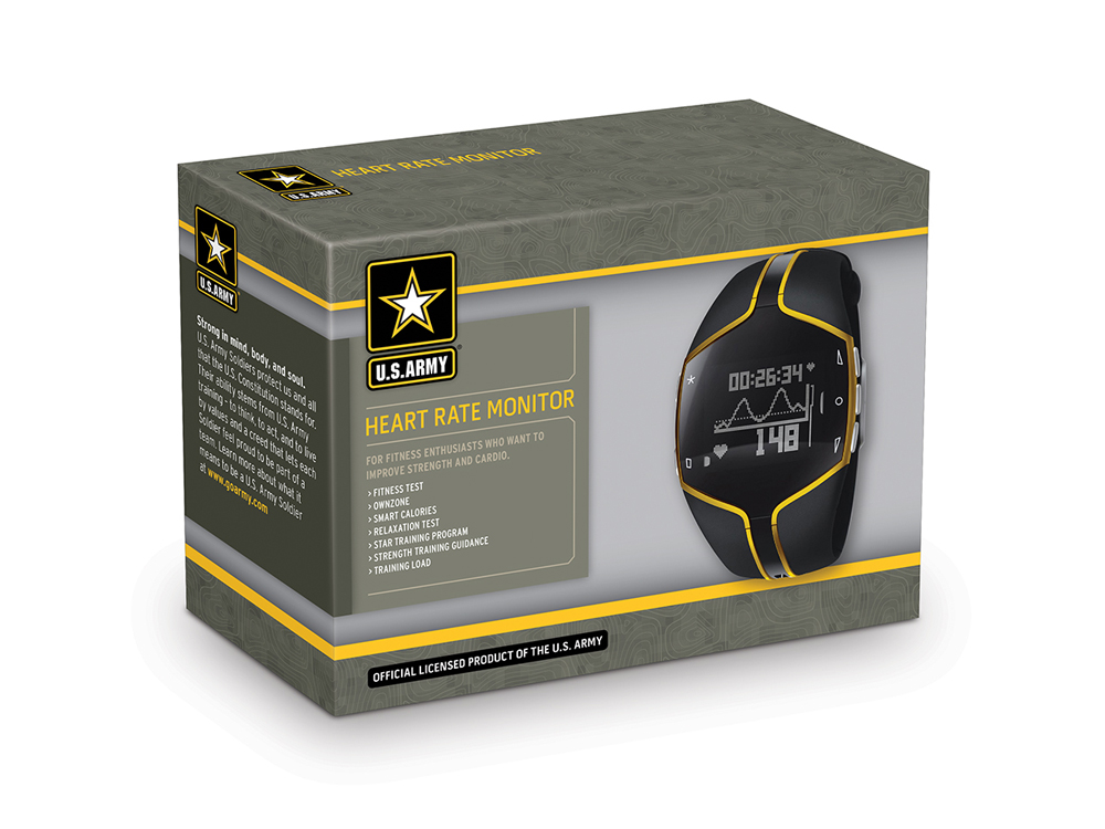 U.S Army Licensed Product Packaging creates a strong brand presentation at point-of-sale