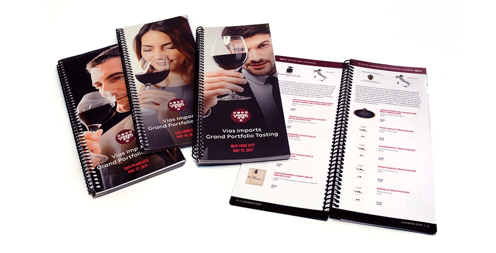 Vias Imports: tasting books showcase the featured wines