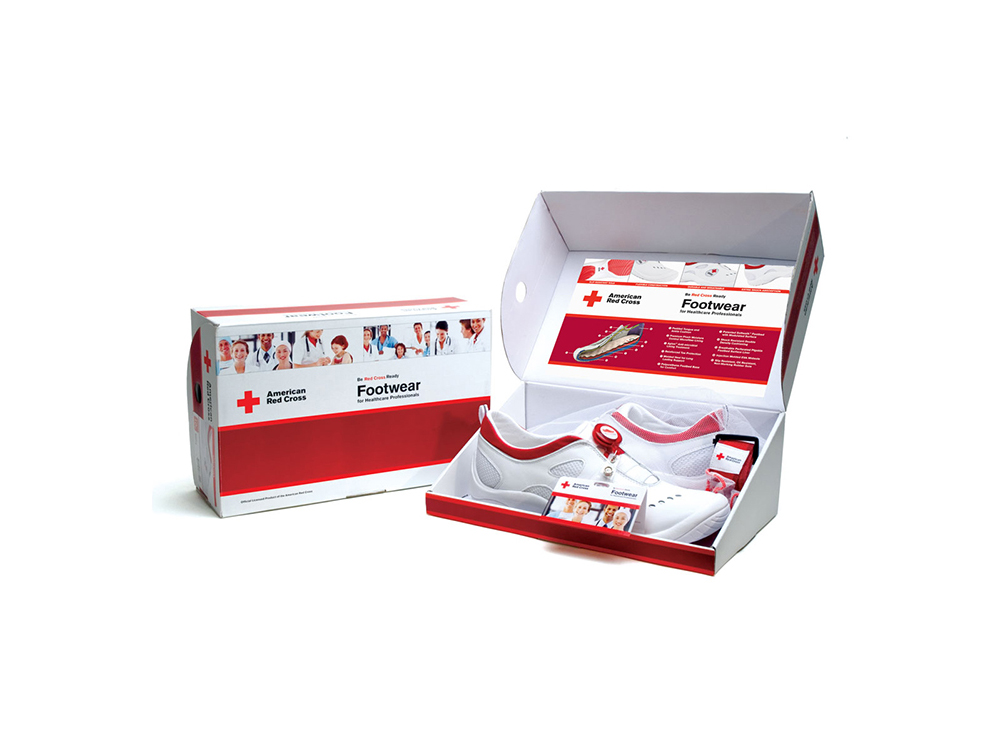 American Red Cross footwear program for healthcare professionals : alternatives : branding and design agency based in nyc