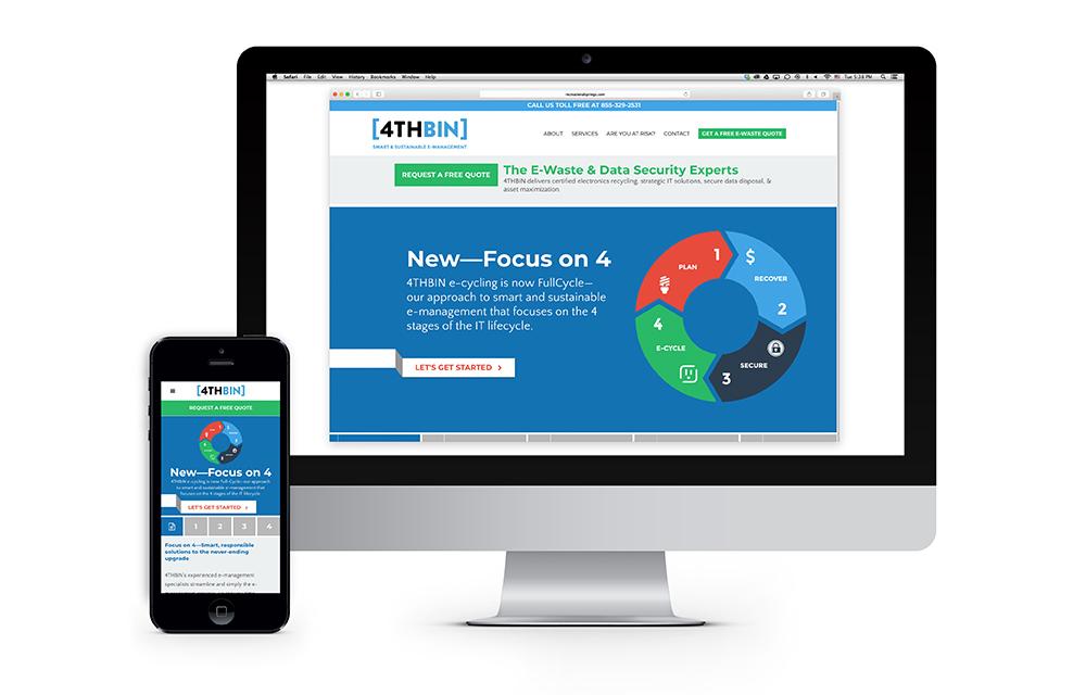 4THBIN Website Design