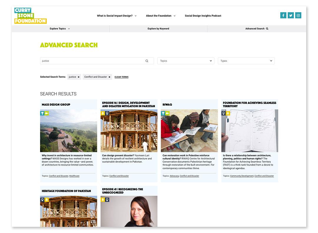Advanced Search Design & Development
