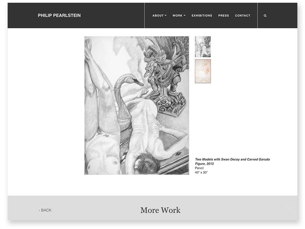 Philip Pearlstein Work Web Page Design & Development