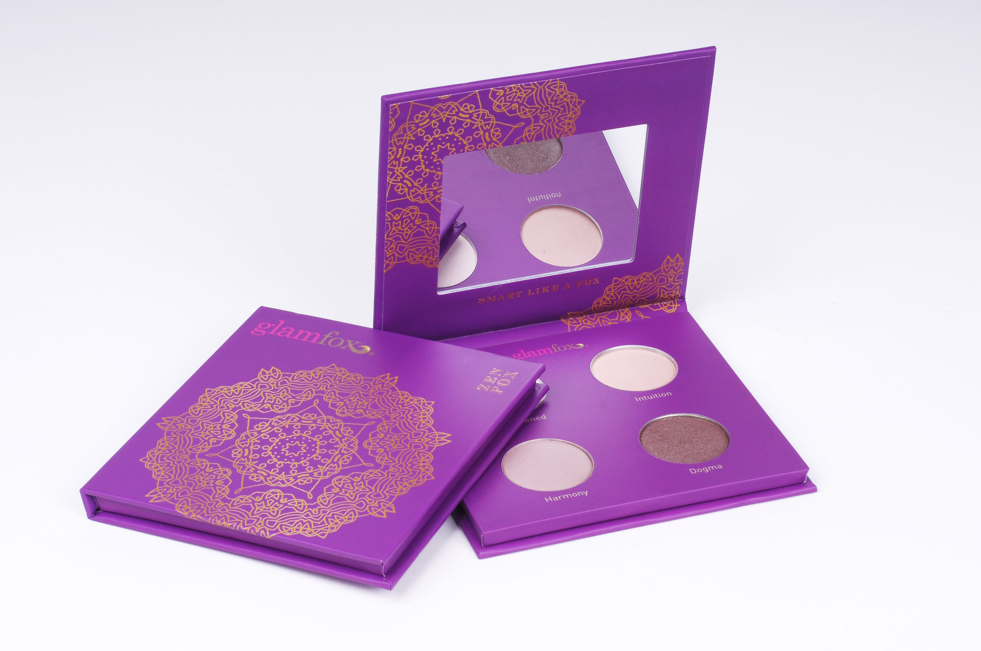 Glamfox: The Zen Fox palette features a unique madala design to set the mood and create a zen state-of-mind.