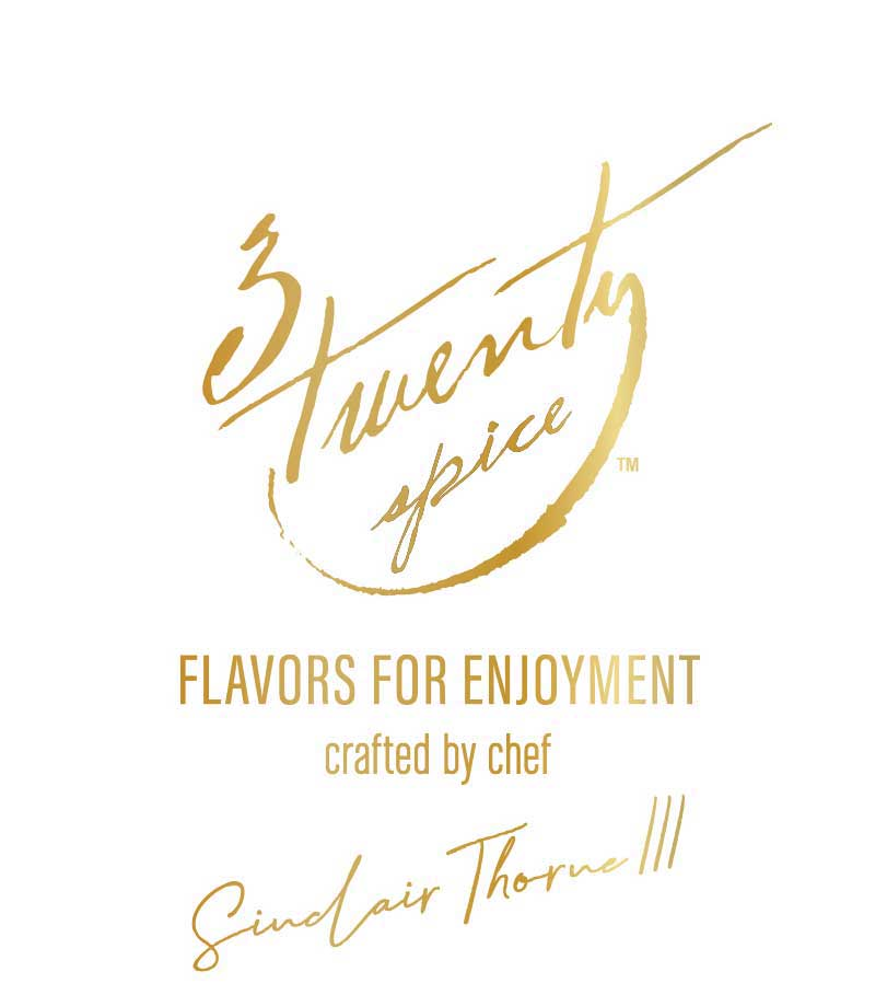 """The brand logo and tagline, """"flavor for enjoyment"""", empowers anyone to create an elevated culinary experience with flavor profiles meticulously created and handcrafted by Chef Sinclair."""