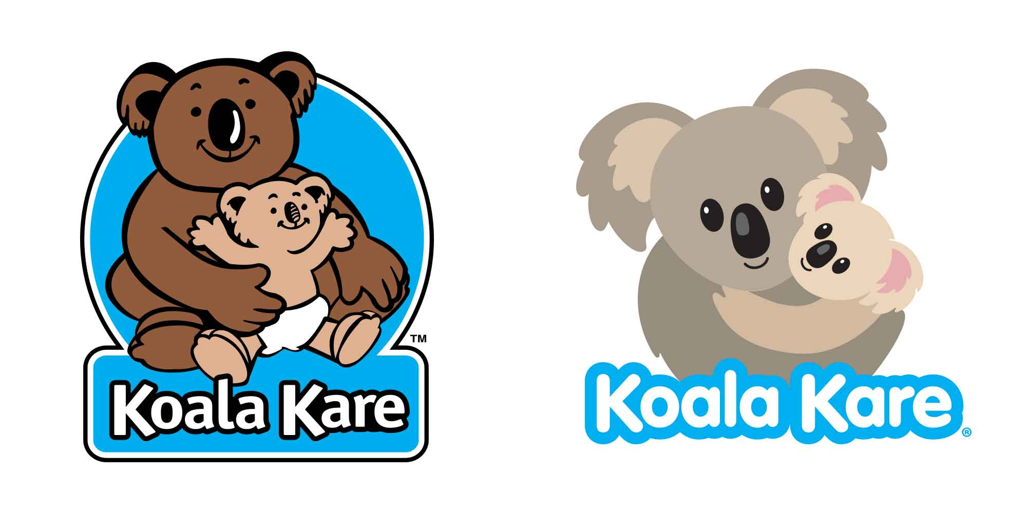 Koala Kare logo before and after