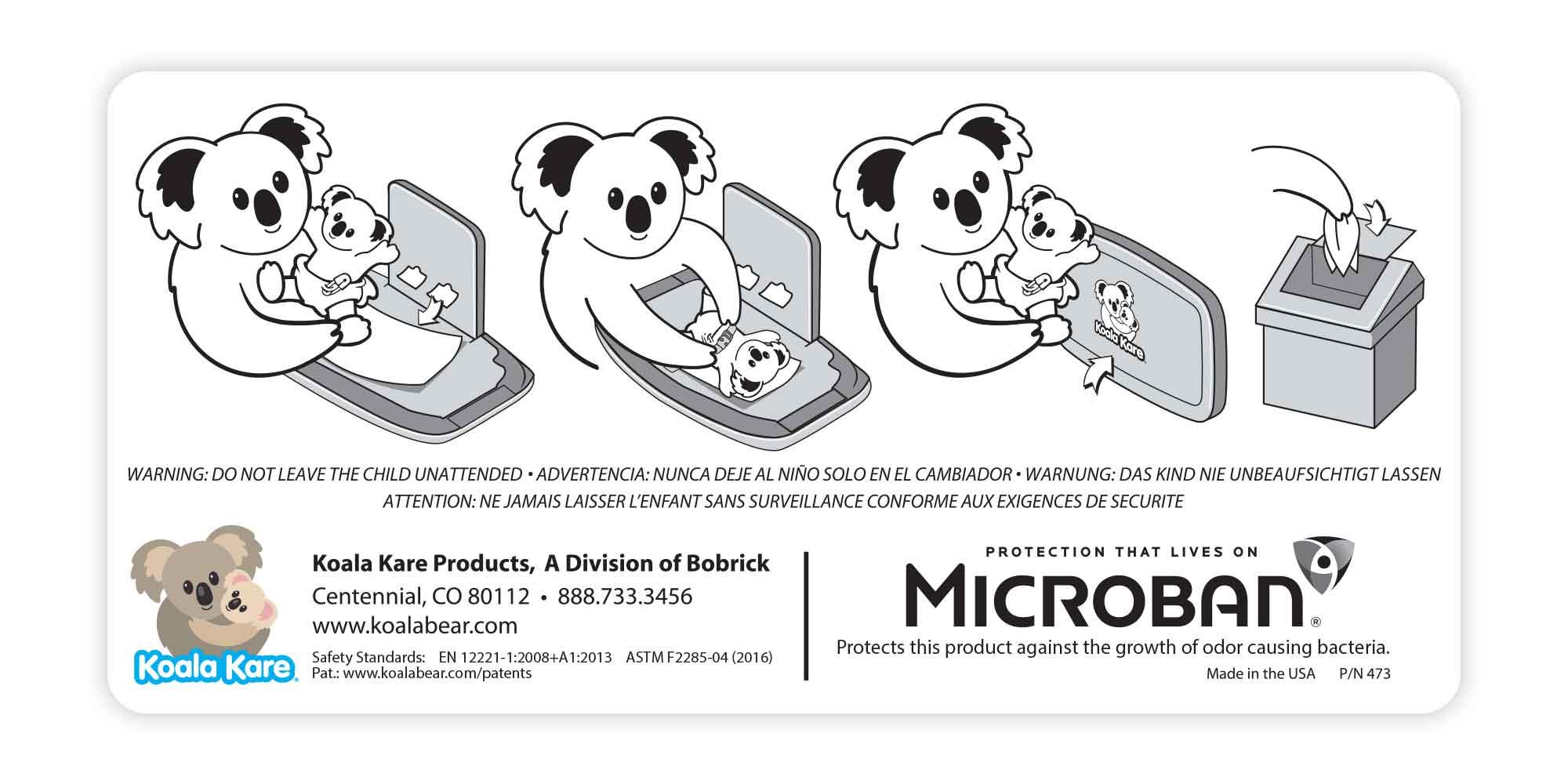 Koala Kare Instructional Sticker