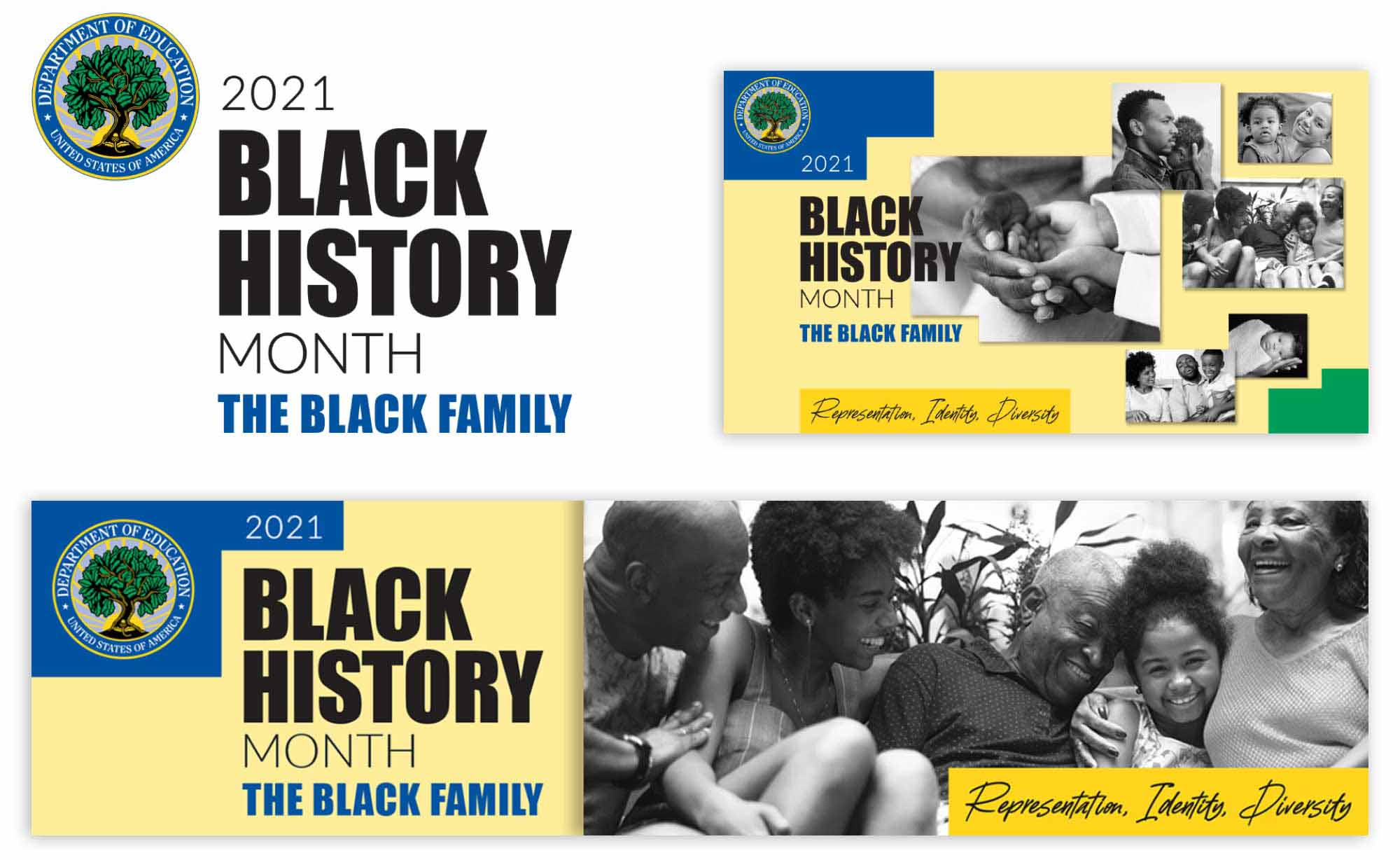 Black History Month Festival: Design and development of event identity and graphics including web banners and presentation